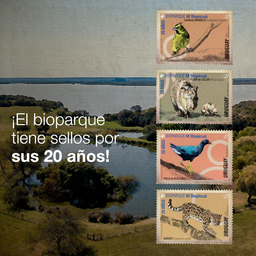 El Correo Uruguayo reconoce la labor del Bioparque M'Bopicuá de Montes del Plata con la presentación de una Hoja Filatélica