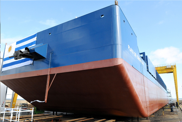 Naming Ceremony of Montes del Plata`s first barge manufactured by the Uruguayan Shipbuilding Cluster