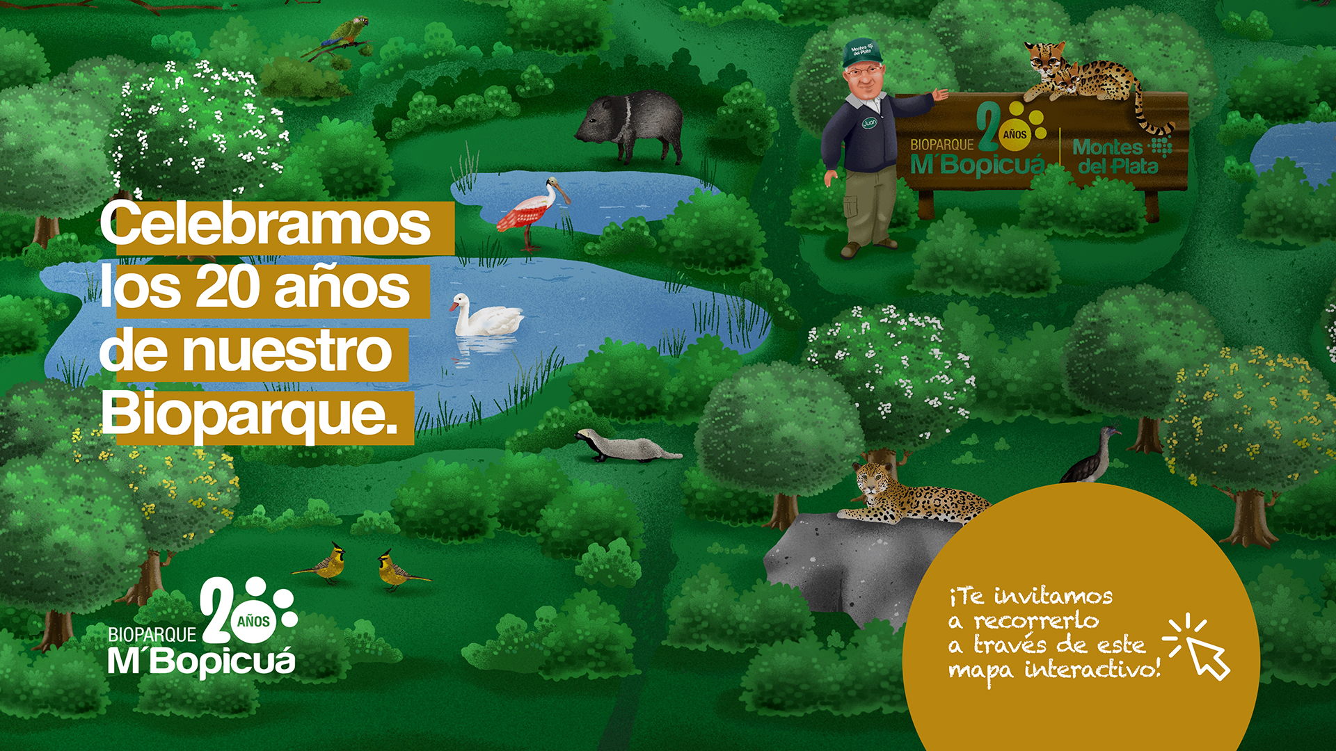 Montes del Plata celebra los 20 años de su Bioparque M'Bopicuá con una campaña de sensibilización sobre fauna autóctona